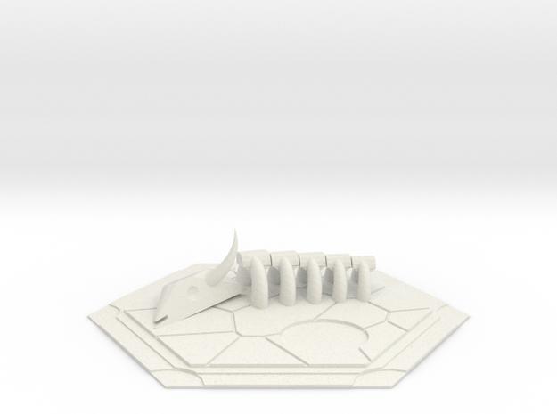 CATAN inspired Desert tile in White Strong & Flexible