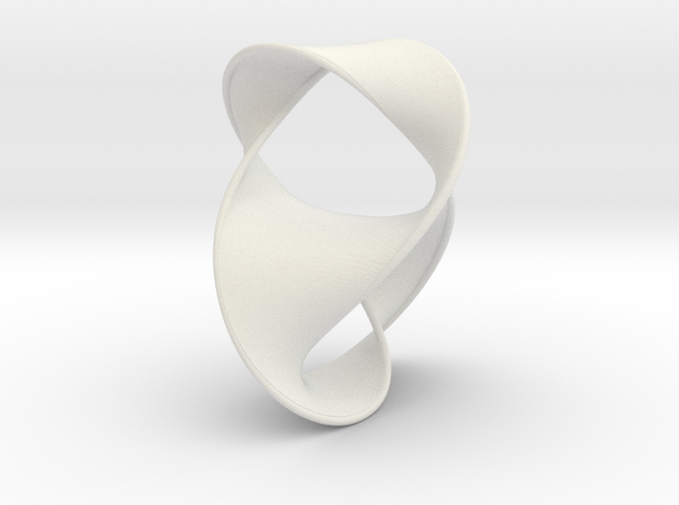 Figure 8 Knot with Seifert Surface in White Natural Versatile Plastic