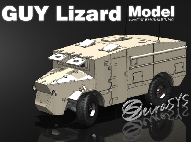 Guy Lizard Model - Single print in White Strong & Flexible