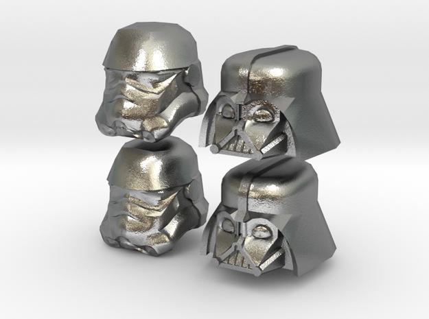 Starwars lego heads 3d printed