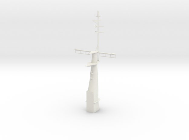 1/72 Secretary Class (Hamilton) - Front Mast in White Natural Versatile Plastic