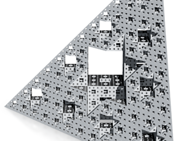 Triangle de Menger 3d printed