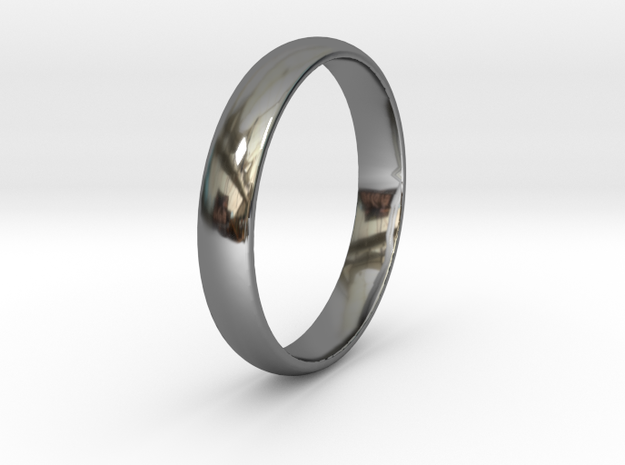 Ring Size 10 smooth in Fine Detail Polished Silver