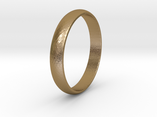 Ring Size 12 1I2 smooth in Polished Gold Steel
