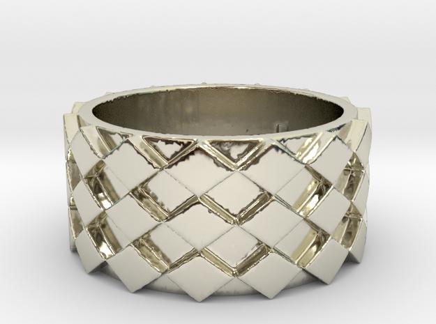 Futuristic Diamond Ring Size 7 in 14k White Gold