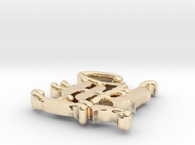 Hawkins Jewelry Manufacturing Custom H Logo  in 14K Yellow Gold