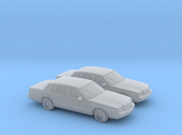 1/160 2X 1996 Lincoln Town Car in Smooth Fine Detail Plastic