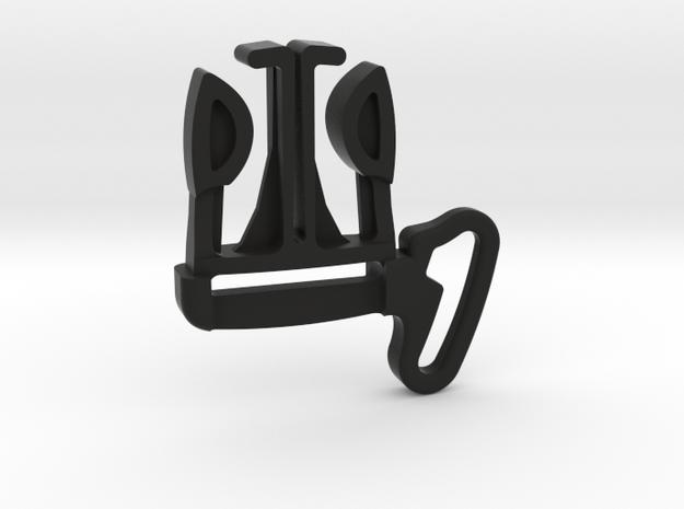 Belt Clip for Frog, Cameleon Gen 1 & 2 in Black Natural Versatile Plastic