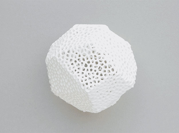 Voronoi Poly in White Natural Versatile Plastic
