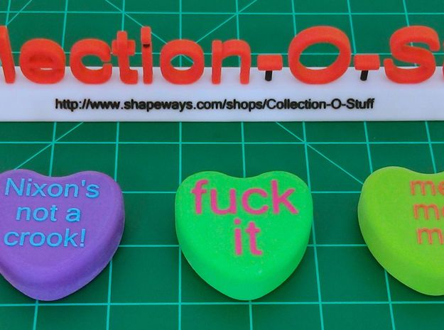 Collection-O-Stuff Sign 3d printed Size compare