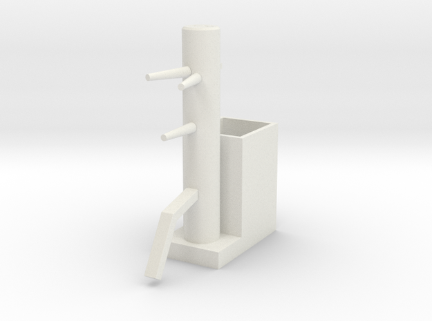 Wooden Dummy05-print in White Natural Versatile Plastic