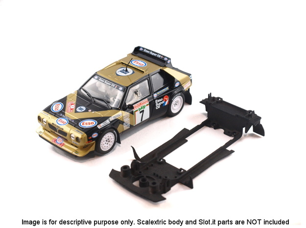 S05-ST2 Chassis for Scalextric Delta S4 no spoiler in White Strong & Flexible