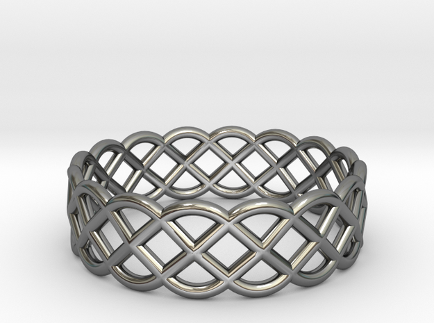 Ring - Celtic Infinity Design in Fine Detail Polished Silver