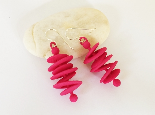 Orbital Drift Earrings 3d printed