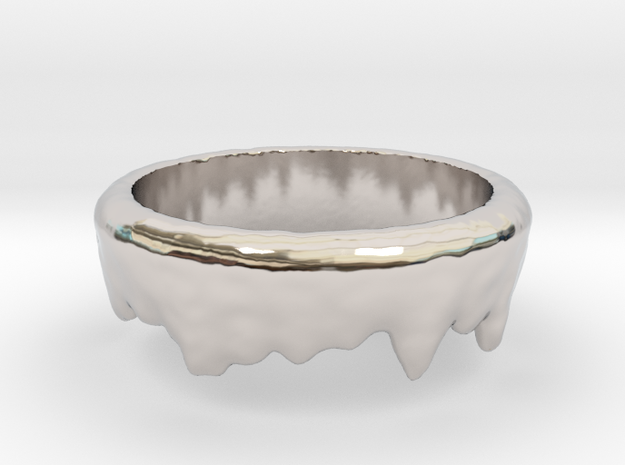 Ring Melting No.6 in Rhodium Plated Brass