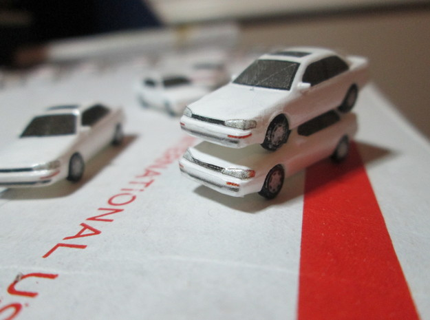 n scale 1992-1996 toyota camry 5 pack in Smooth Fine Detail Plastic