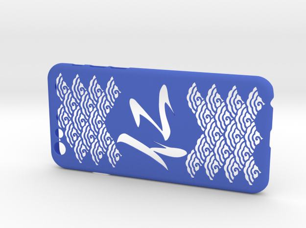 Chinese character perfect virtue iPhone6/6S case in Blue Processed Versatile Plastic