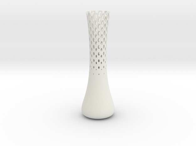 Jin Vase  in White Natural Versatile Plastic