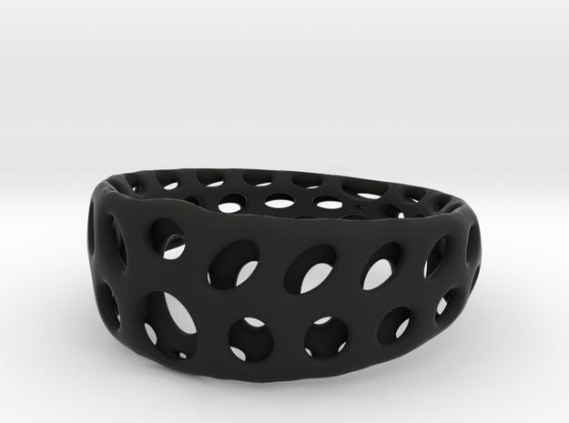 deSc Ring Opus 1 Size 7 in Black Natural Versatile Plastic