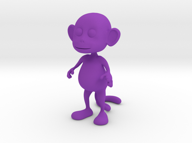 Tiny Monkey in Purple Processed Versatile Plastic