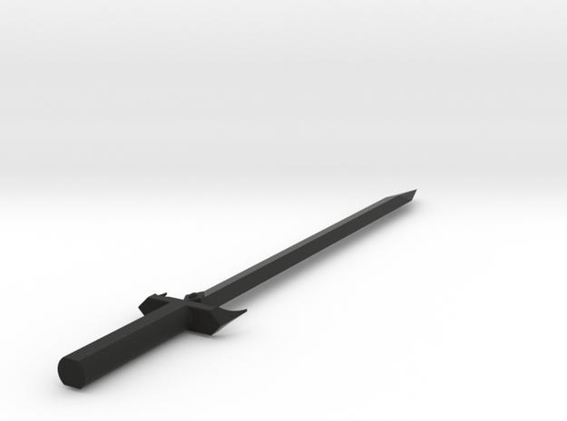 The Black Swordsman Sword 3d printed