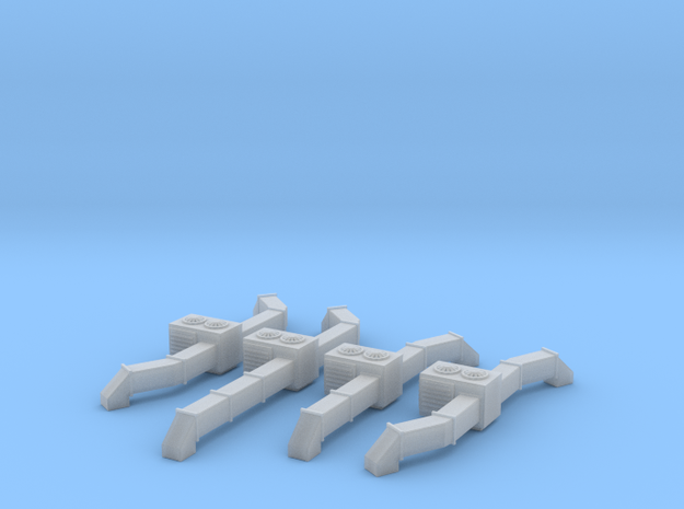 Rooftop AC Unit Set Of 4 N Scale