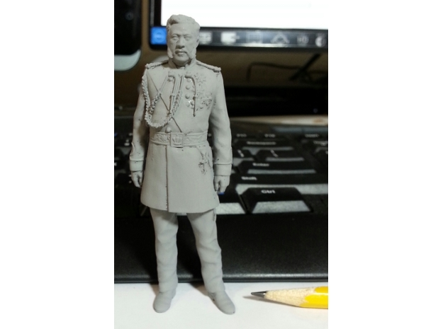 1:20 scale Kalakaua Standing Hollow FUD in Smoothest Fine Detail Plastic