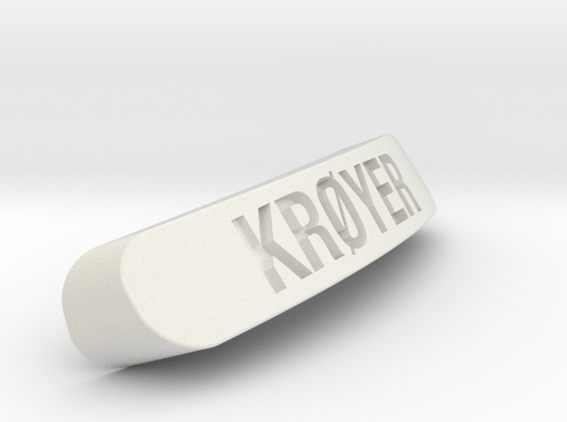 KRØYER Nameplate for Steelseries Rival in White Natural Versatile Plastic