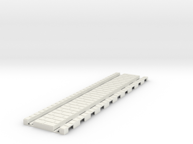 P-32stg-tram-straight-200-1a in White Natural Versatile Plastic