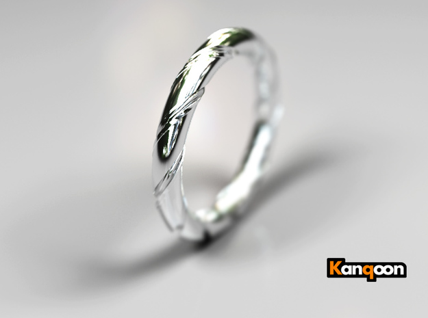 Bernd - Ring - US 7¼ - 17.5mm inside diameter 3d printed Polished Silver PREVIEW