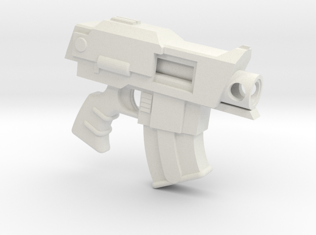 Forgeworld-Bolt-Pistol in White Natural Versatile Plastic