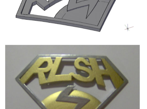 Improved RLSH badge in White Processed Versatile Plastic
