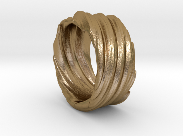 Twisted No.2 in Polished Gold Steel