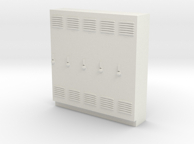 O Scale Lockers in White Strong & Flexible