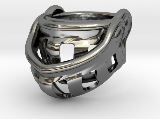 Knight Ring 9.5 in Fine Detail Polished Silver
