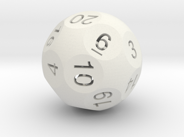 Dx - D20 in White Natural Versatile Plastic