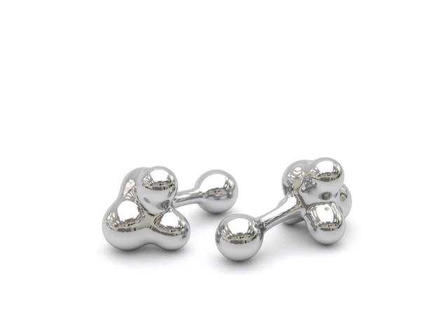 Cumulus Cufflink #503 Demi in White Strong & Flexible