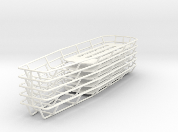 1/18 Tapered Stokes Basket (Set of 5) in White Processed Versatile Plastic