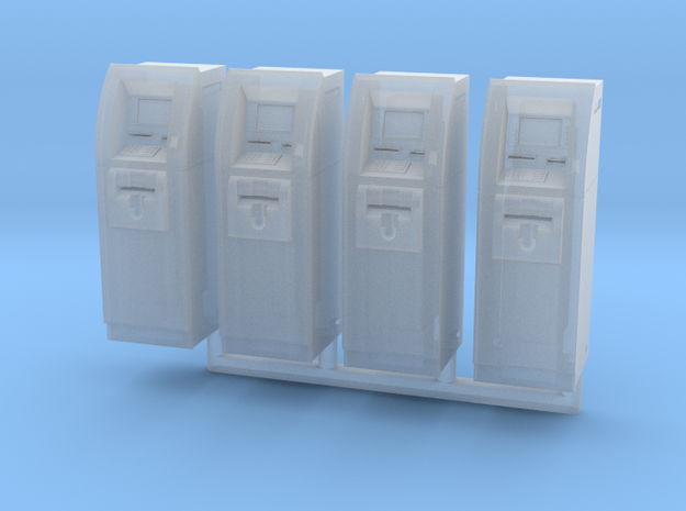 SlimCash 200 ATMs x4, HO Scale (1:87) in Smooth Fine Detail Plastic