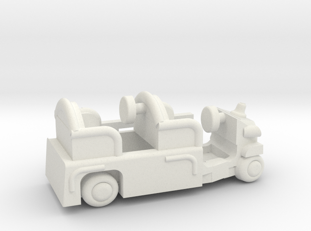 Firetruckb in White Natural Versatile Plastic