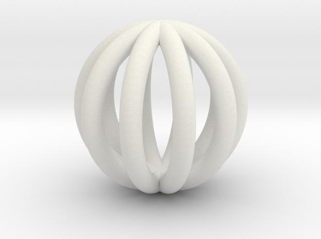 BALL5 in White Natural Versatile Plastic