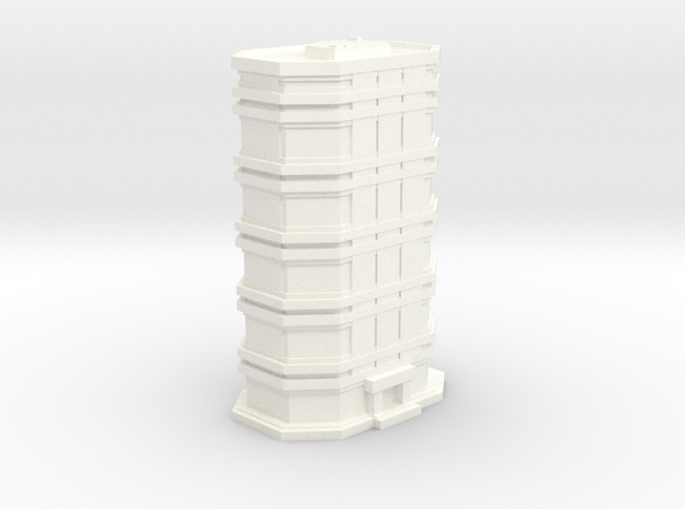 City Building #1 in White Strong & Flexible Polished