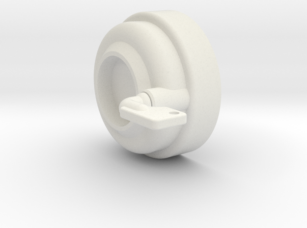 Right Side Hose Connector in White Natural Versatile Plastic