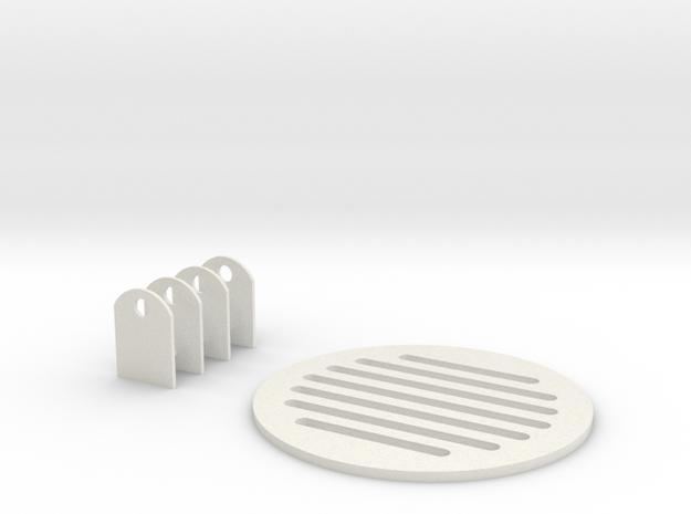 Jetpack Vent And Door Clamps in White Natural Versatile Plastic