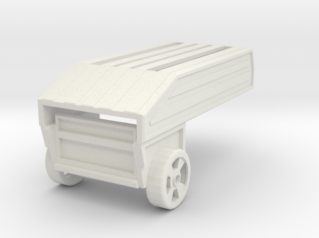 Trailer in White Natural Versatile Plastic