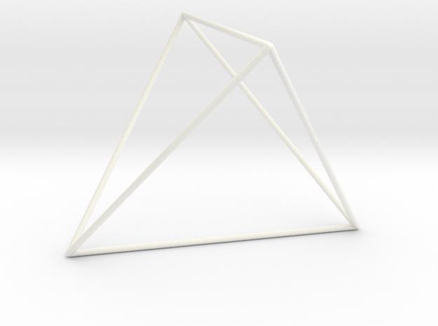 Tetracedron Planus Vacuus in White Processed Versatile Plastic