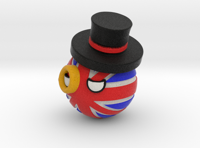 Countryballs UK with hat and monocle - Full Color Sandstone