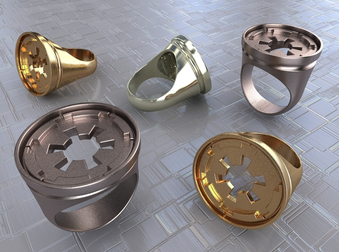 Stainless Steel, Gold Plated Matte & Premium Silver renders.