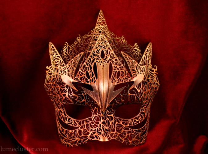 Please note that the painted and finished mask is only available at Lumecluster.com