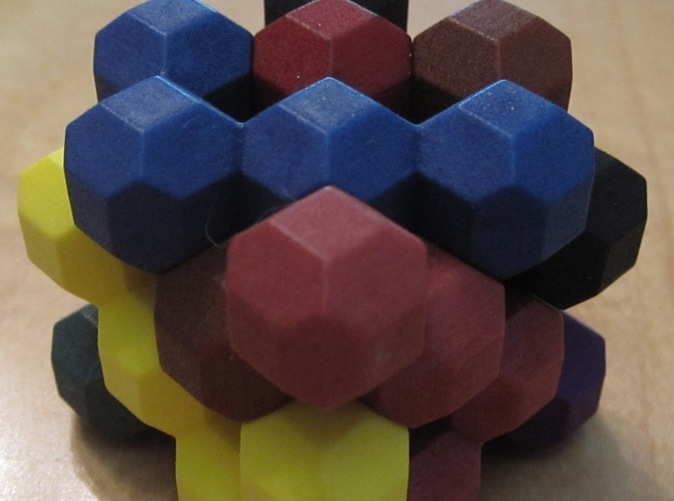 Solved puzzle without case